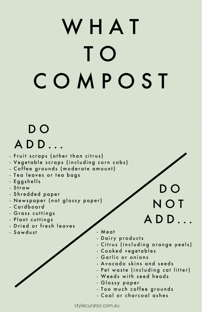 What to compost pin composting tips