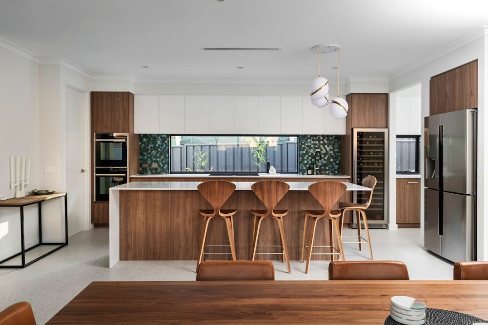 Wooden accent kitchen_Coolbinia home