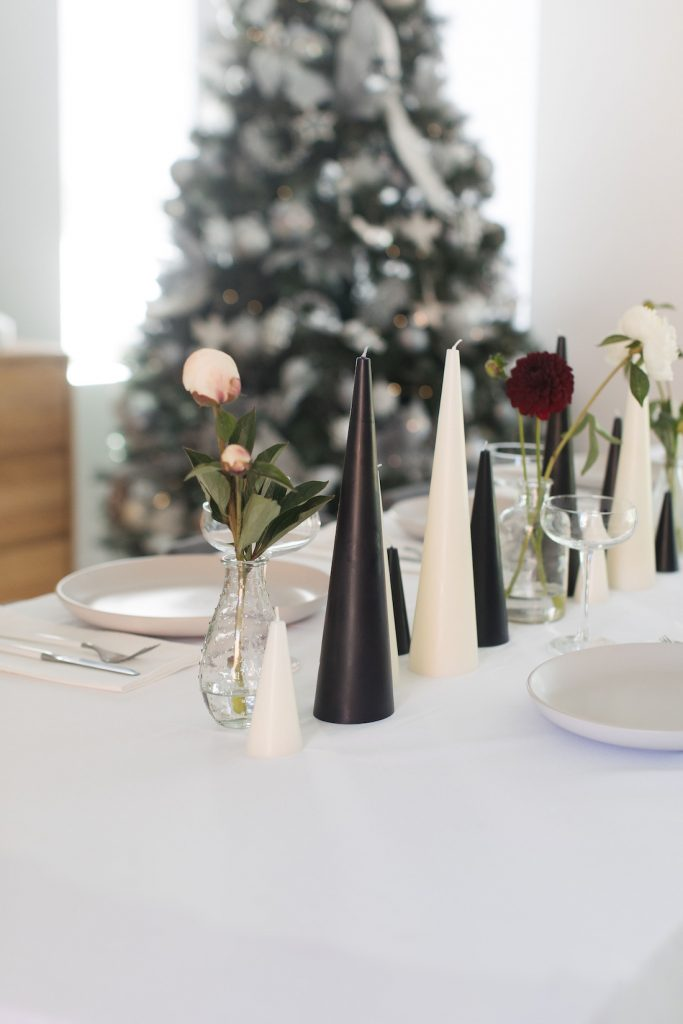 Candle Kiosk candles elegant Christmas table styling