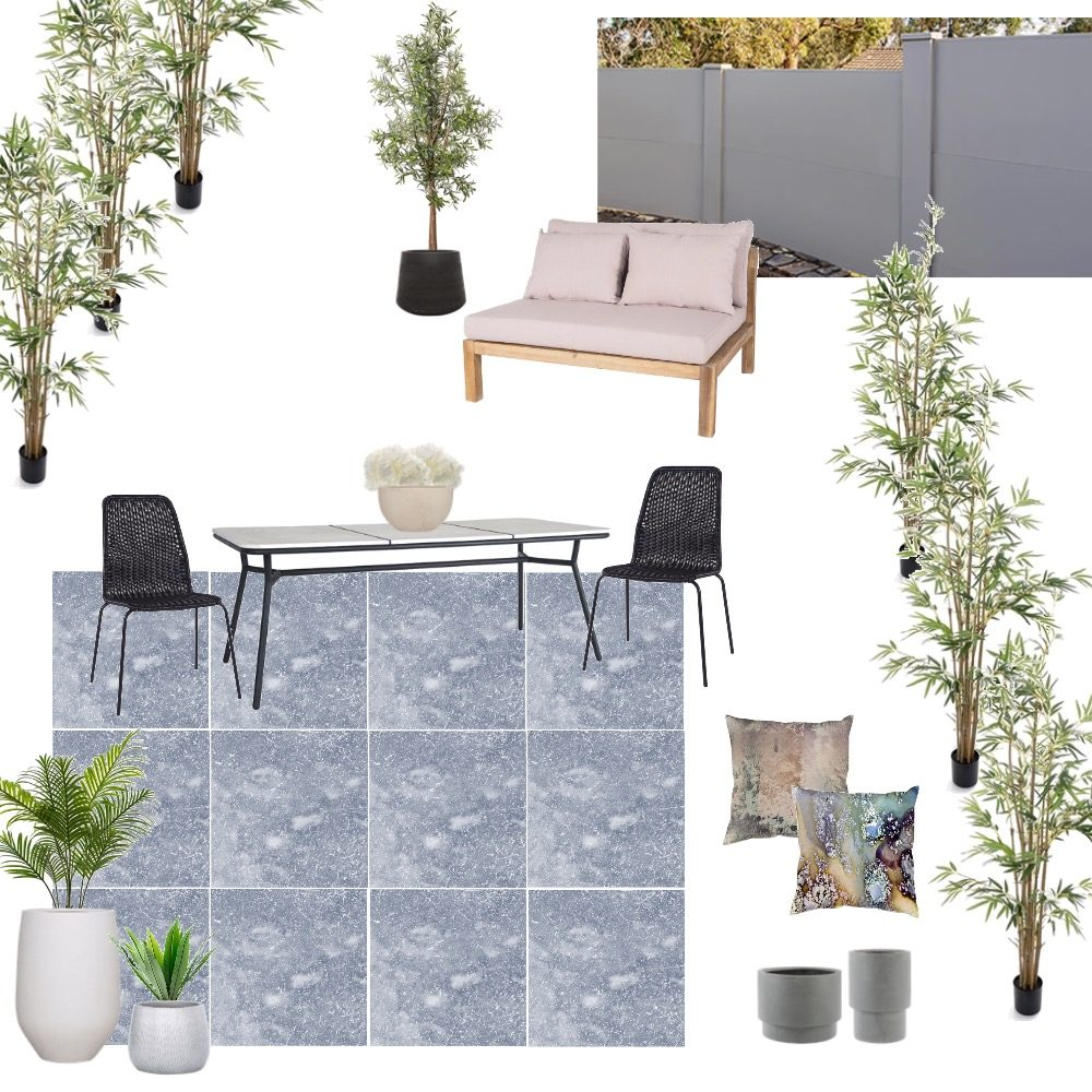 Courtyard inspiration mood board