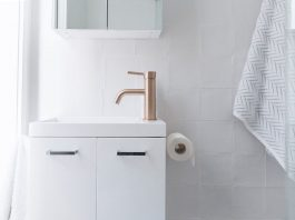 Erskineville downstairs bathroom_brass mixer