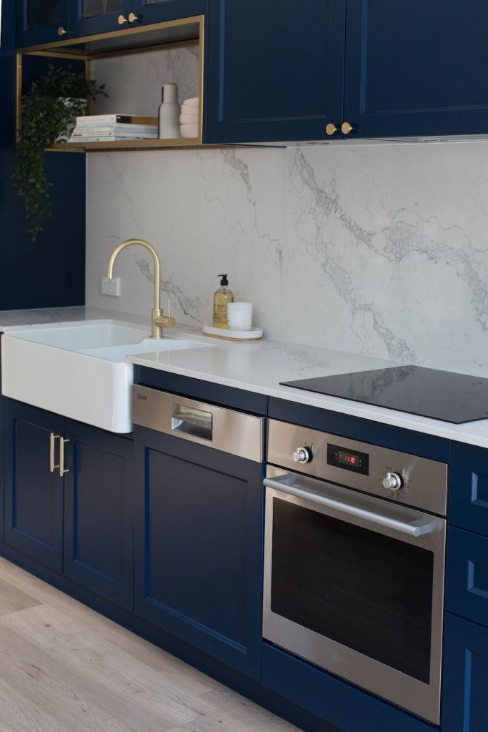 Erskineville kitchen dining navy blue kitchen
