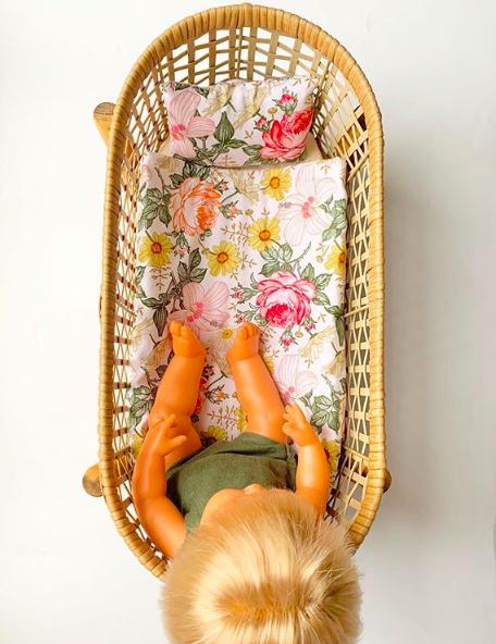 Kmart planter turned dolls bed