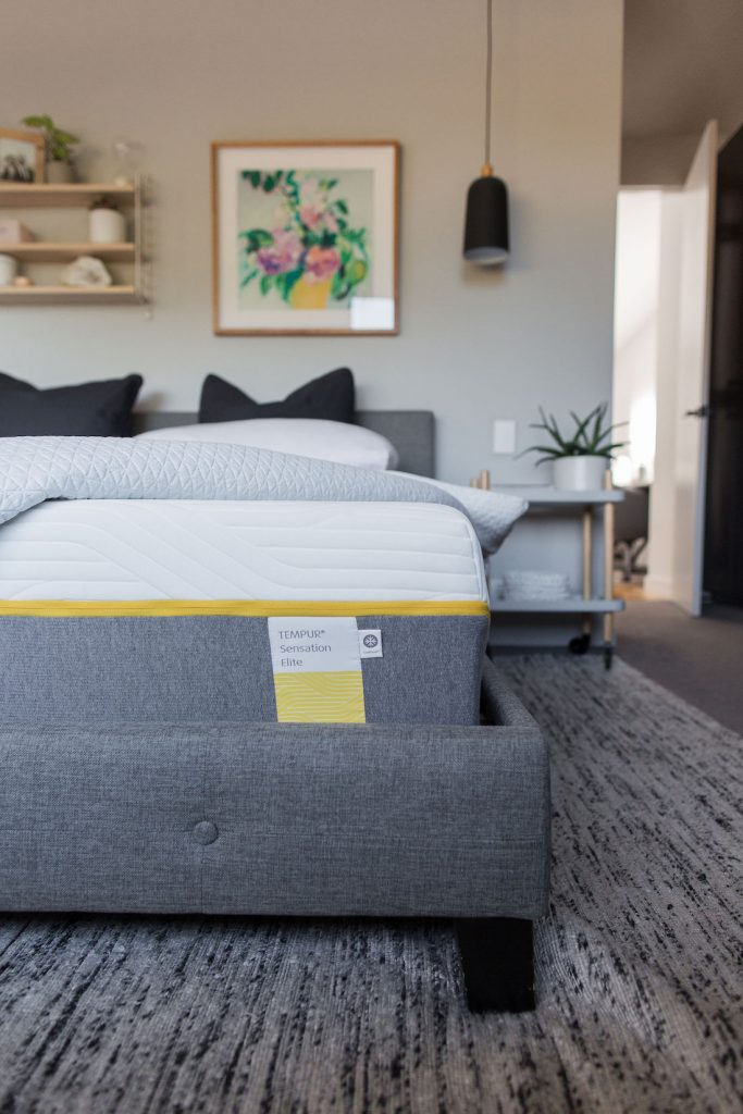Tempur mattress product review close up