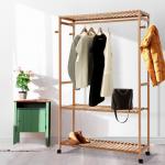 Bamboo clothes rack