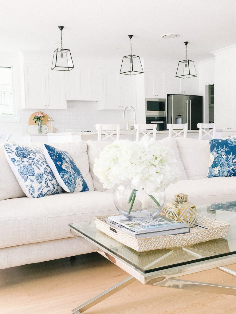 Hamptons home living room details