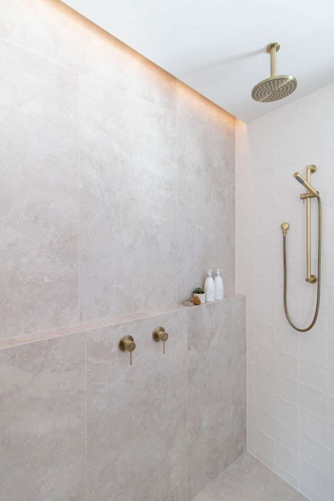Large shower luxe bathroom reno