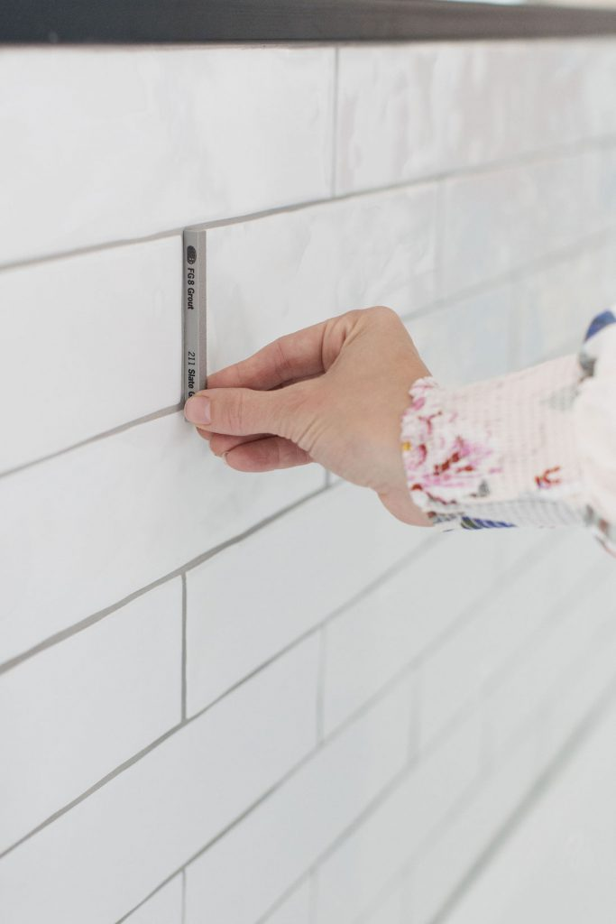 White tile with dark grout picking the right grout
