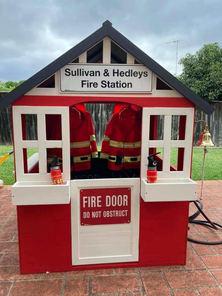 Fire station cubby house
