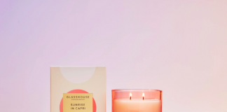 Orange blossom and coconut Glasshouse Fragrances candle