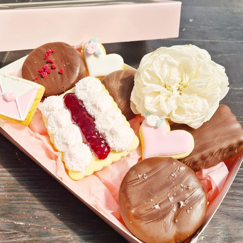 Sweet treat dessert box for Valentine's Day