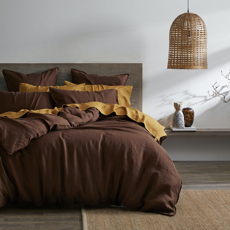 Brown quilt cover
