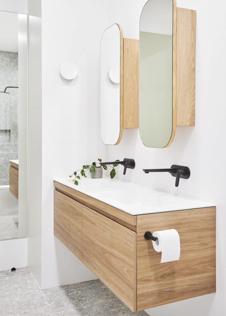 LibertyInteriors_MtMartha_pill shaped bathroom mirror