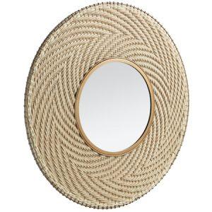 Natural round mirror
