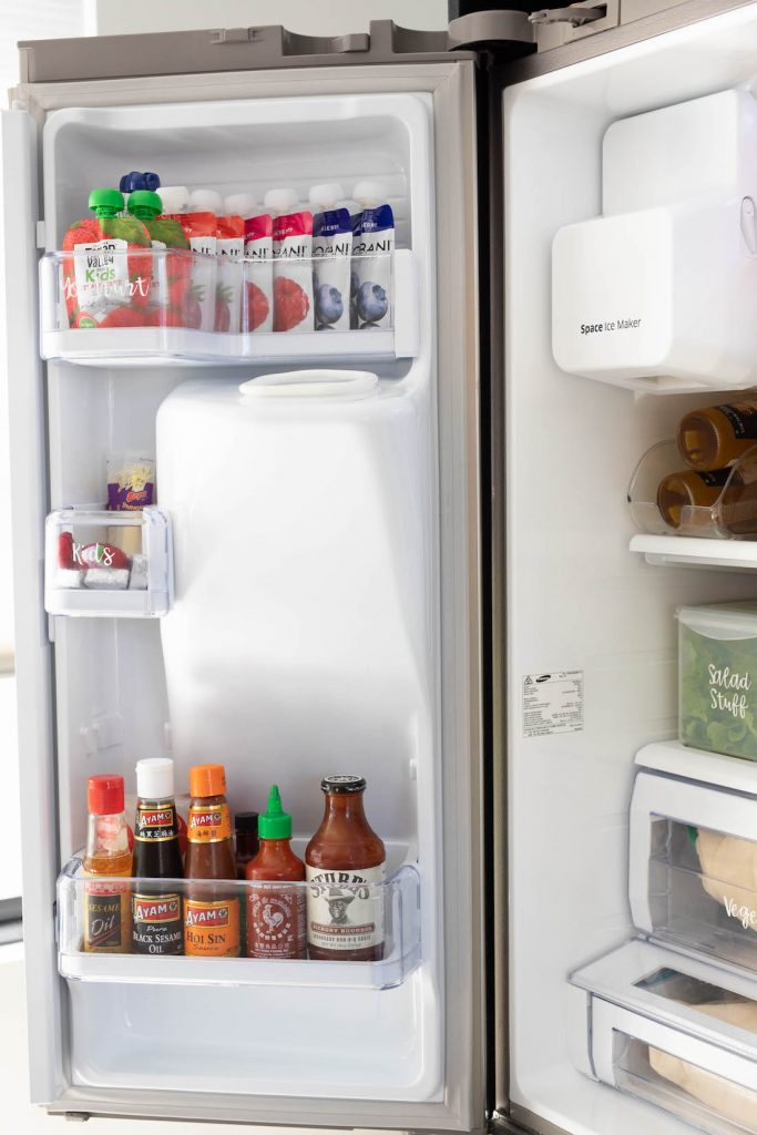 Sauce fridge door fridge organisation
