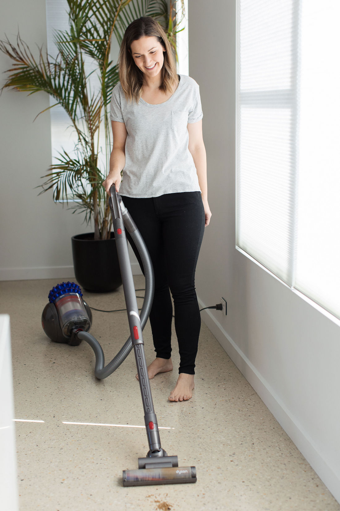Vacuuming sand