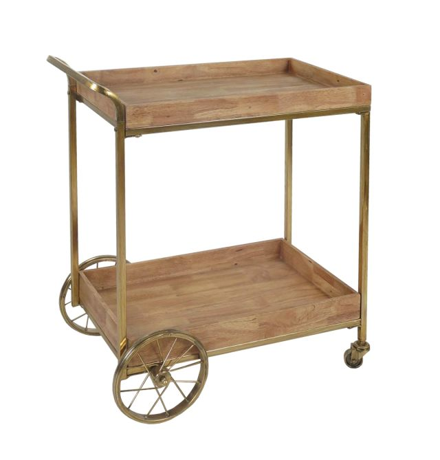 Whimsical bar cart