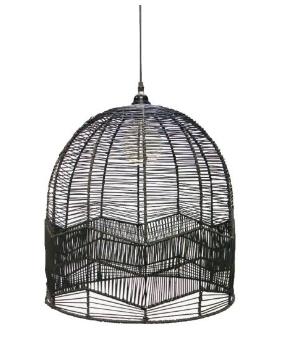 Black basket light