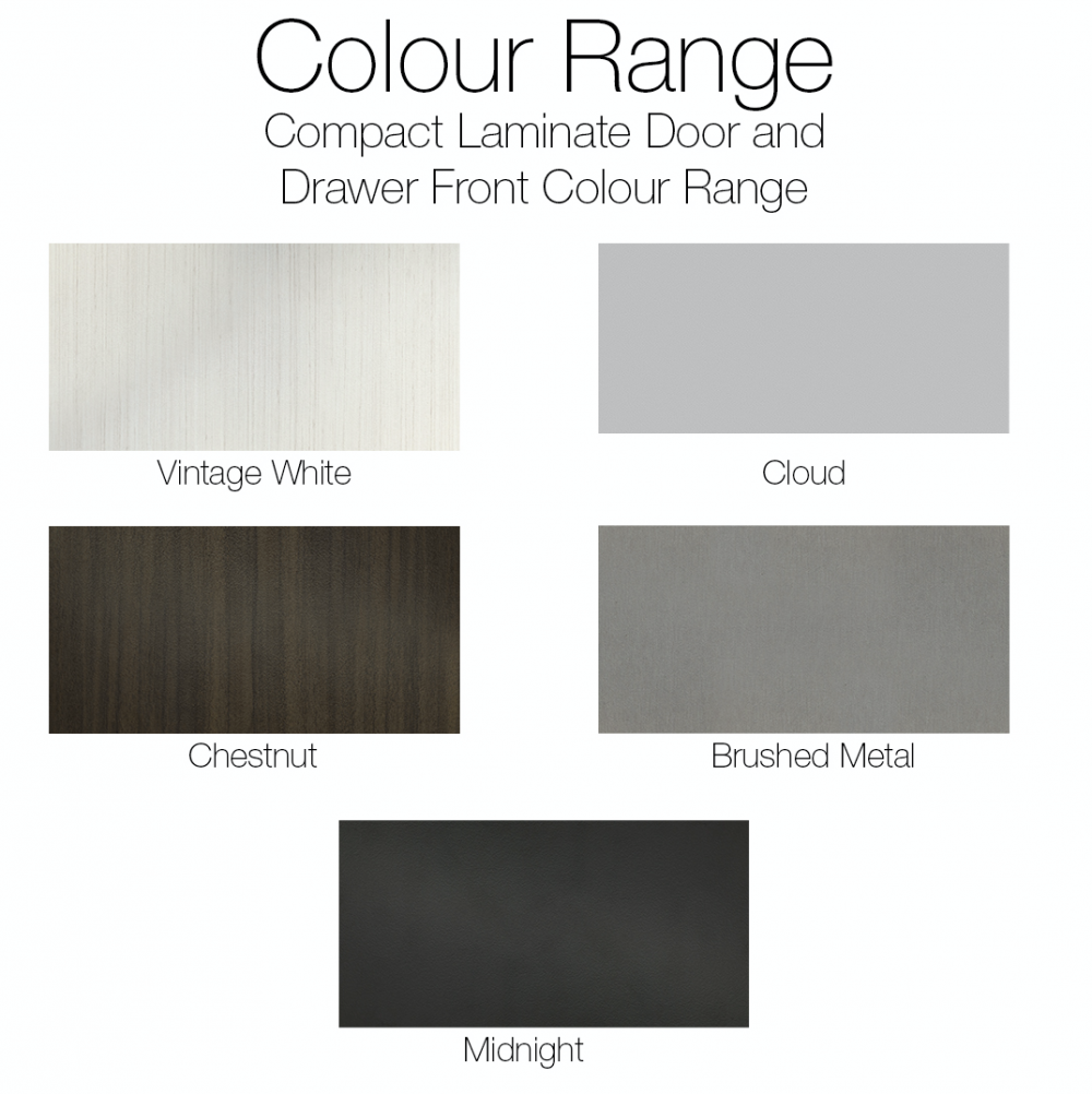 Cabinetry colour range
