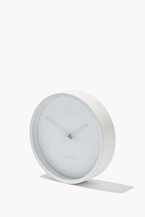 White desk clock