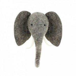 Felt elephant head