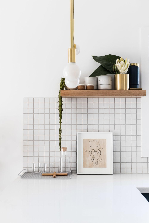 Kitchen shelf styling inspiration