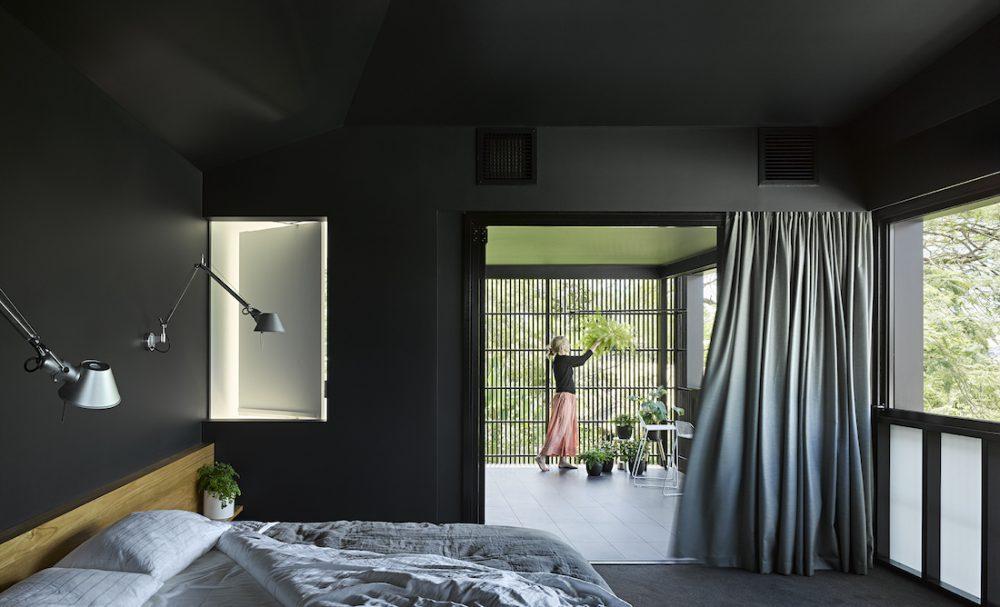 Paddington home_Kieron Gait_black bedroom