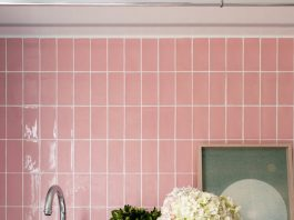 Pink laundry tiles_Newmarket House_Berkeley Interiors