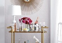 Quirky bar cart styling