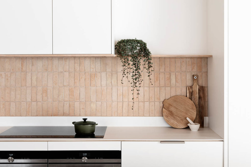Zellige brick kitchen splashback