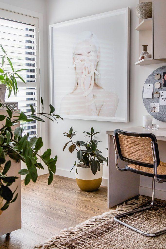 Bask Interiors_desk and artwork
