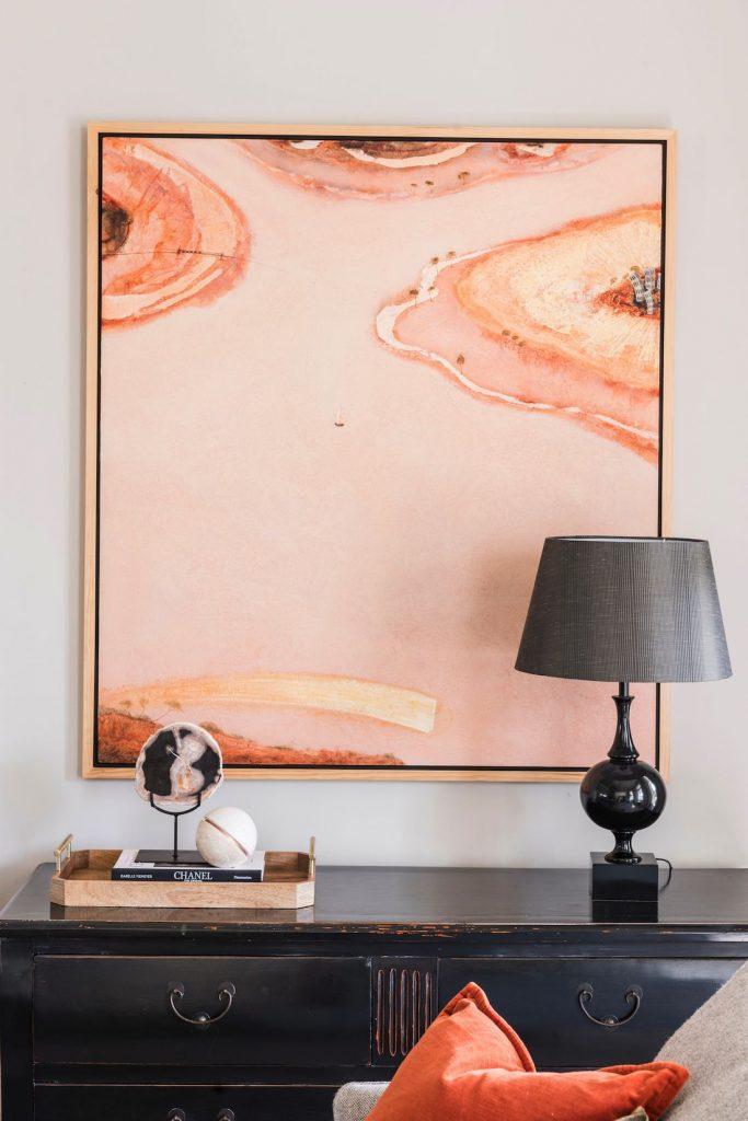 Berkley Interiors_Swanbourne_living room artwork