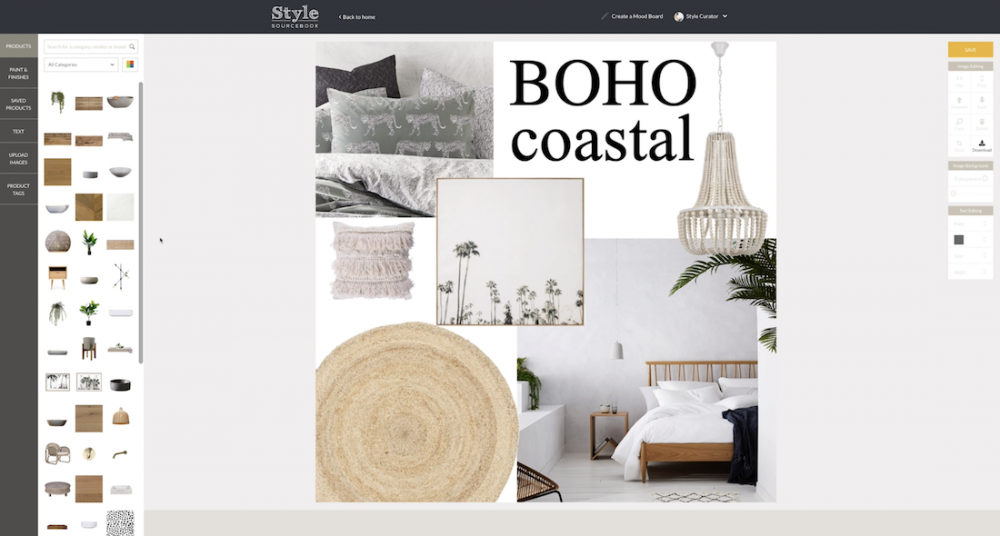 Create a digital mood board