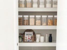 Baskets in pantry