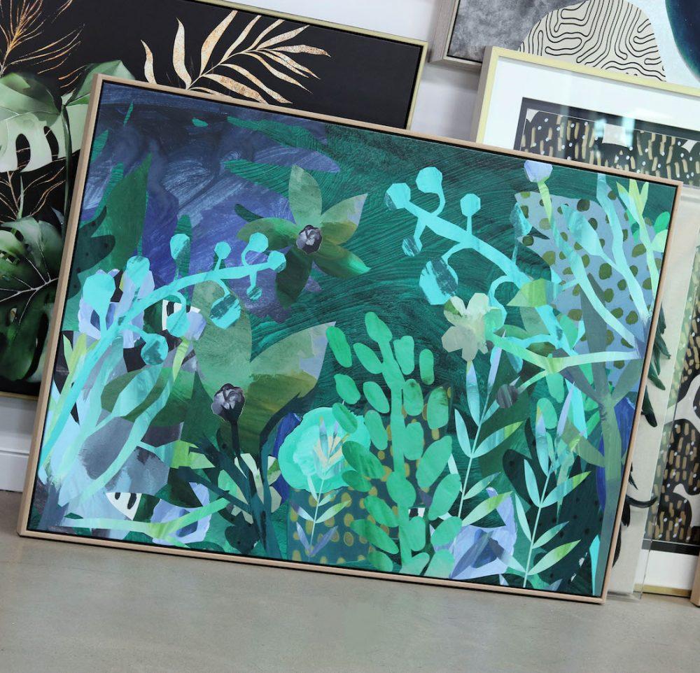 Emma Street Studio_Painterly collage green