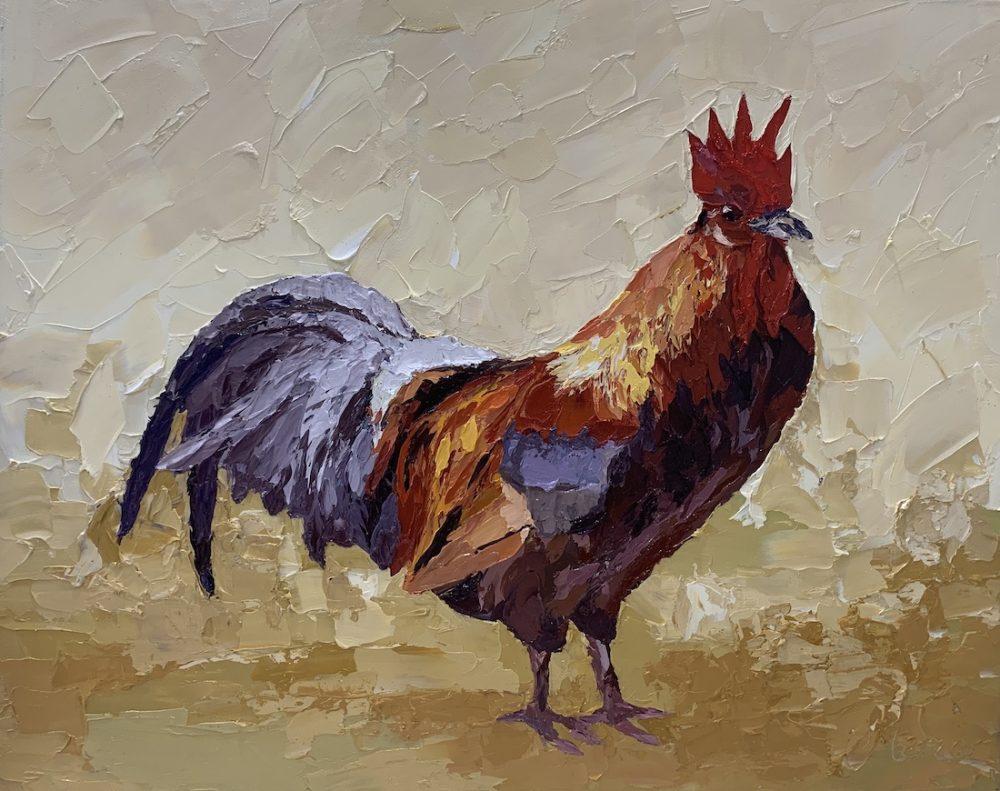 Hen painting