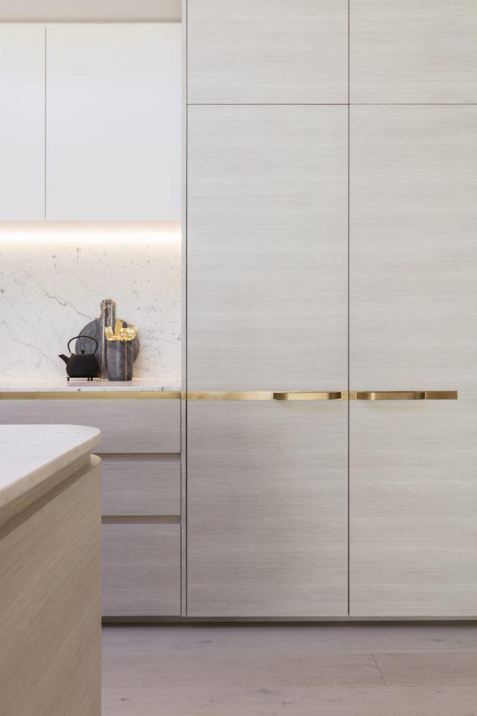 Brass detail in kitchen
