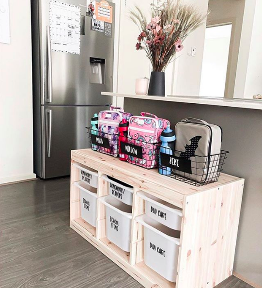 Organising station by @homeandtribe_ via raw_homemade