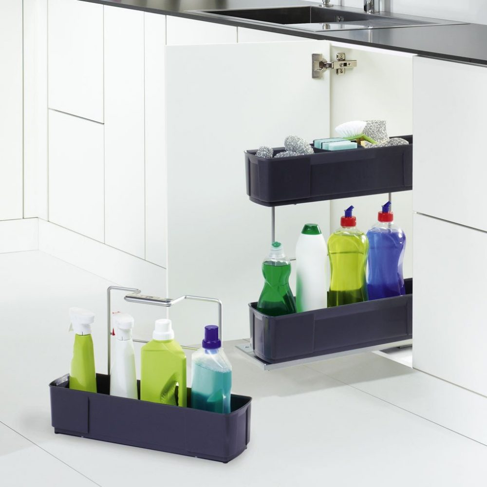 Pull out cleaning caddy