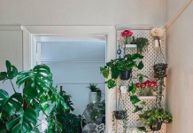 Skadis peg board into green wall_@living_atnumberone via lovepropertyuk