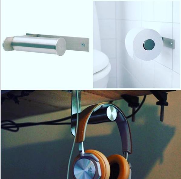 Toilet roll holder for headphones_ikeahack