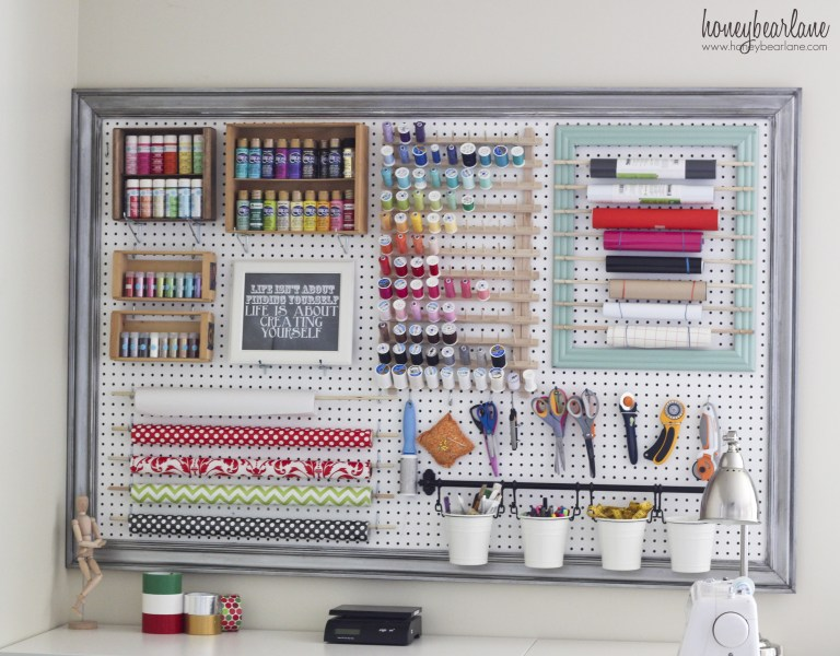 Extra large pegboard genius ways to organise your home