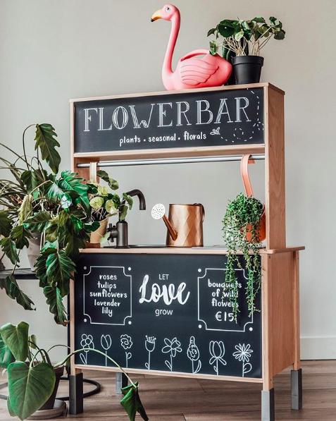 kitchen turned flower bar_zoeyzokidsconcept