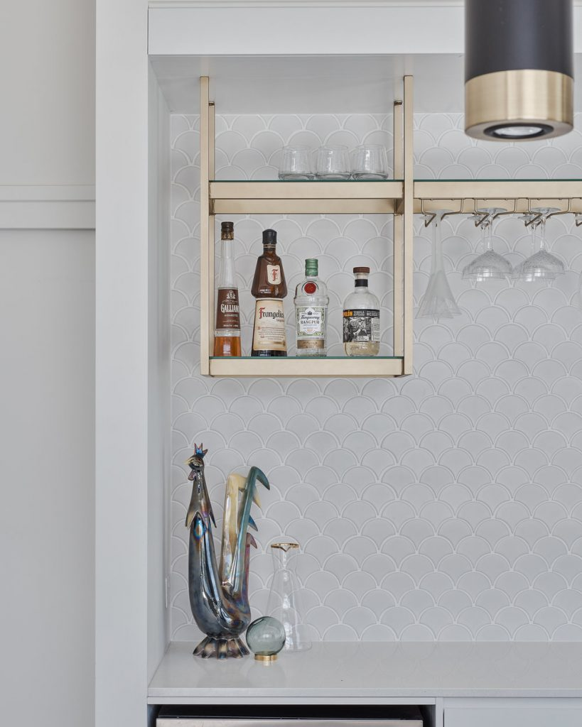 Gold bar shelves