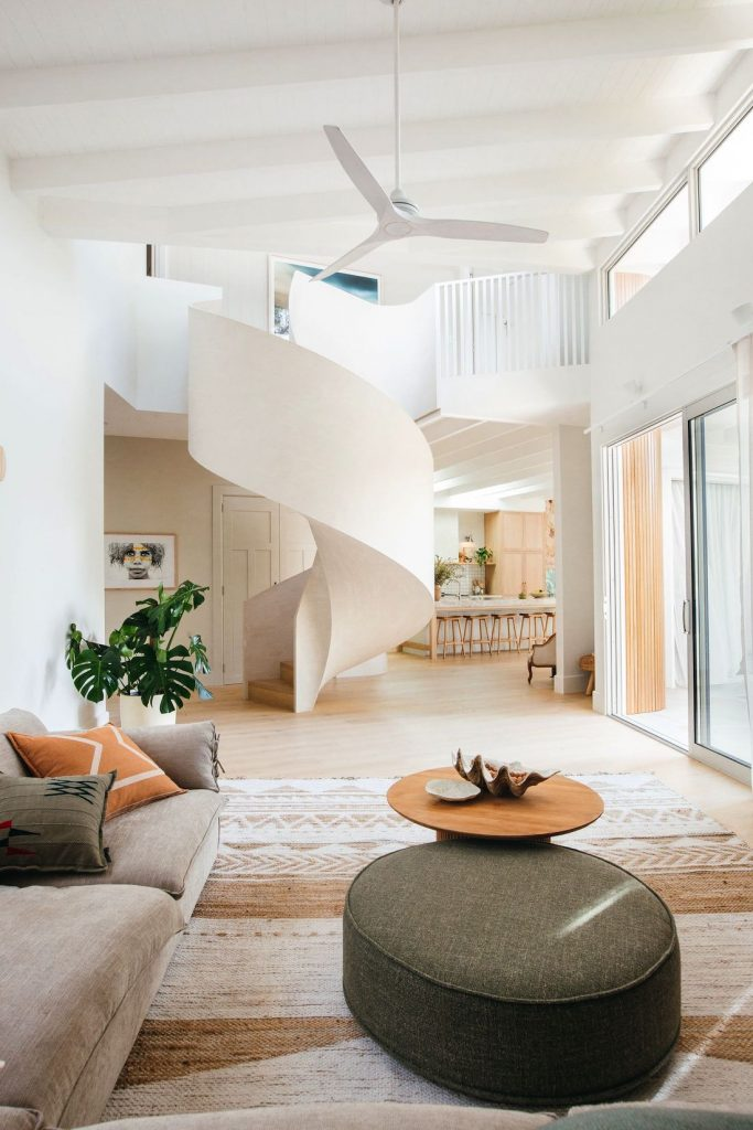 Kyal and Kara spiral staircase