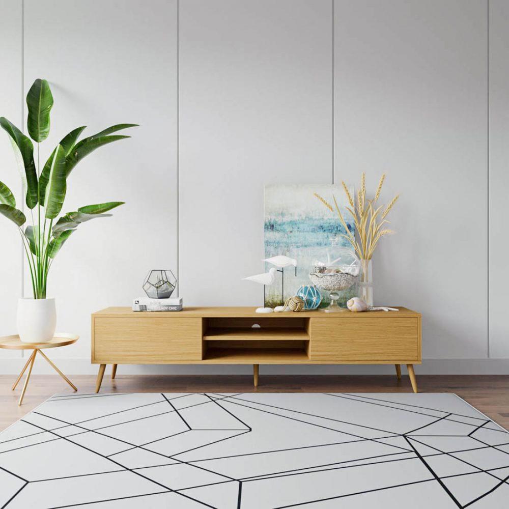 Light wood entertainment unit