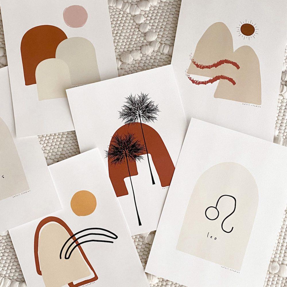 Graphic design prints