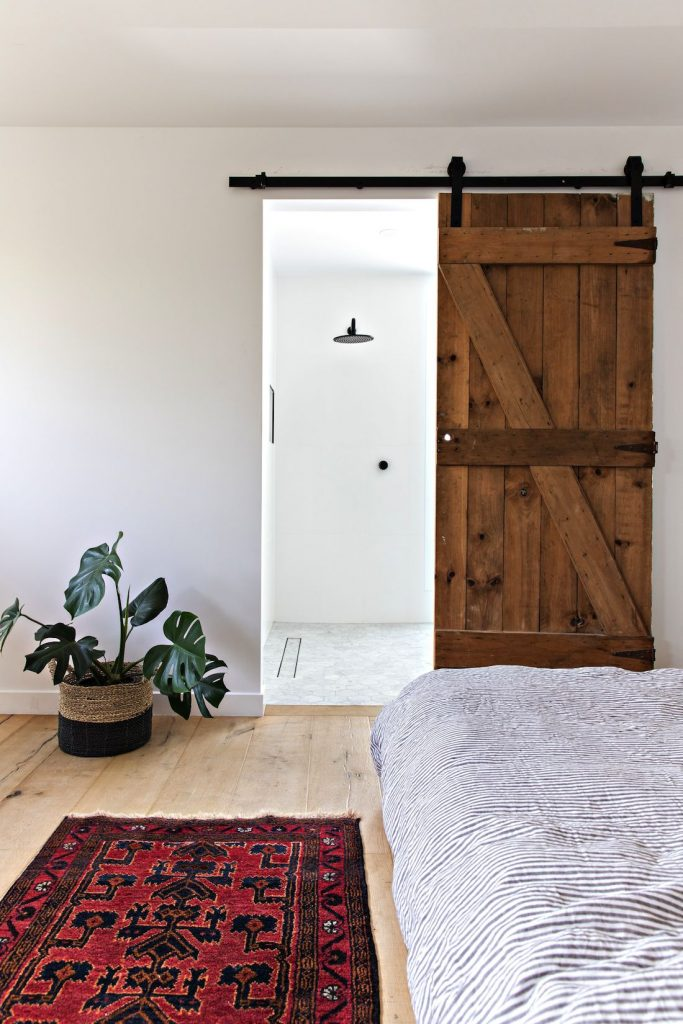 The Pool House_studio bedroom barn door
