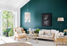 VJ panelled painted feature wall