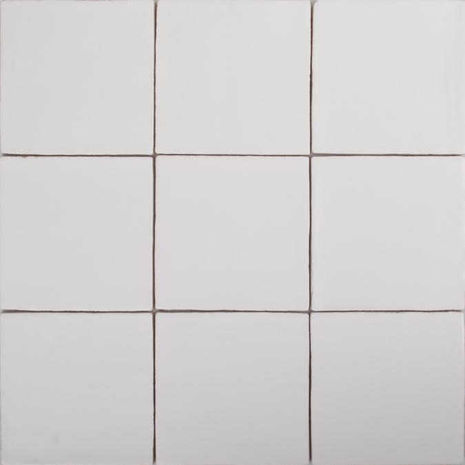 White square tiles